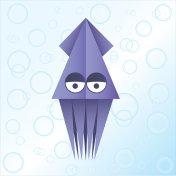 Origami squid