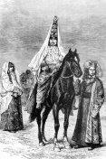 A Kyrgyz Bride on a horse in Afghanistan
