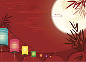 Chinese Mid-autumn Festival background