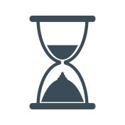 Sand clock icon isolated on white background