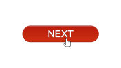 Next web interface button clicked with mouse cursor, wine red, online program