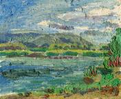 summer landscape painting