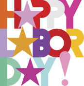Happy Labor Day decorative text
