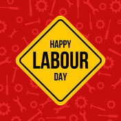 Labour day banner design