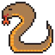 illustration design pixel art cobra