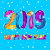 2019 Multicolor Card or Poster Design