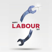 Happy Labour Day template