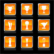 Trophy athletics royalty free vector art