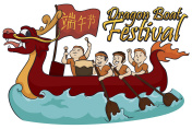 Rowing Team Competing in Dragon Boat Festival