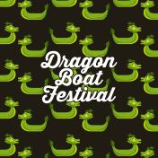 green dragon boat festival seamless pattern