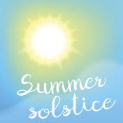 Summer solstice poster.