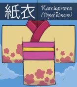 Traditional Paper Kimono or Kamigoromo for Tanabata Festival