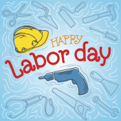 Happy Labor Day Label