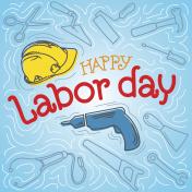 Happy Labor Day Label
