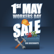 First May International Labor day, sales