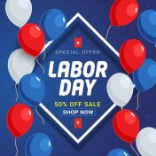 Labor Day Sale banner background