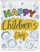 Notebook Paper with Doodles to Celebrate Children's Day