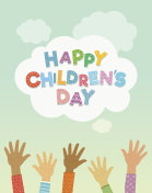 Children's Day vector background