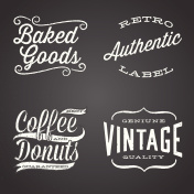 Vintage Chalk Labels