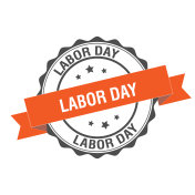 Labor day stamp illustration