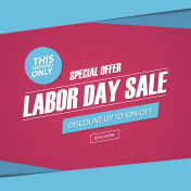 Labor Day Sale. This weekend special offer banner.