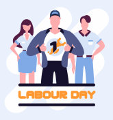 Super workers labour day poster