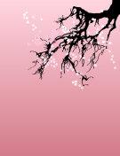 Vector sakura vertical banner
