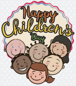 Group of Multiracial Children Smiling and Celebrating their Day