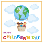 happy childrens day banner