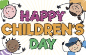 Happy Kids Playing and Celebrating in Children's Day
