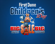 First of June, Children's day, sales commercial event