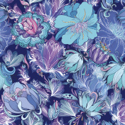 Vector Indigo Flower Pattern