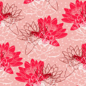 Seamless pattern with water lilies