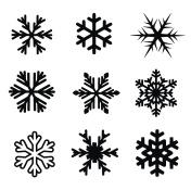 Snowflake icon set vector