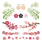 Plum Blossom and Bamboo Ornament