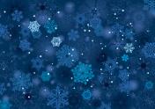 Background snowflake winter night design