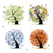 Art trees collection for your design, four seasons