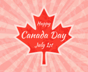 Happy Canada Day on Maple Leaf