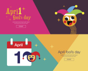 April fool's day, Typography, Colorful, flat design, vector illustration.
