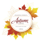 Autumn sale seasonal banner or poster design