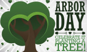 Tree with Heart Shaped Foliage to Celebrate Arbor Day
