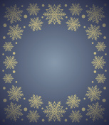 New Year background with snowflake ,blue