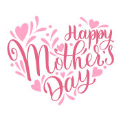 Happy mother Day lettering