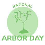 Arbor day icon flat vector illustration