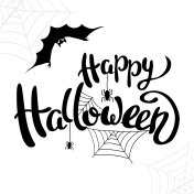 Happy Halloween template for banner or poster. Vector