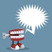 april fools day teeth prank bubble speech