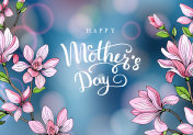 Happy mother's day. Greeting card with mother's day. Floral background. Vector illustration