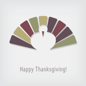 Modern Thanksgiving greeting card with turkey