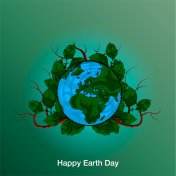 Poster Happy Earth Day. 22 April. 2018.