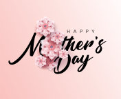 Happy Mother's Day Calligraphy with flower